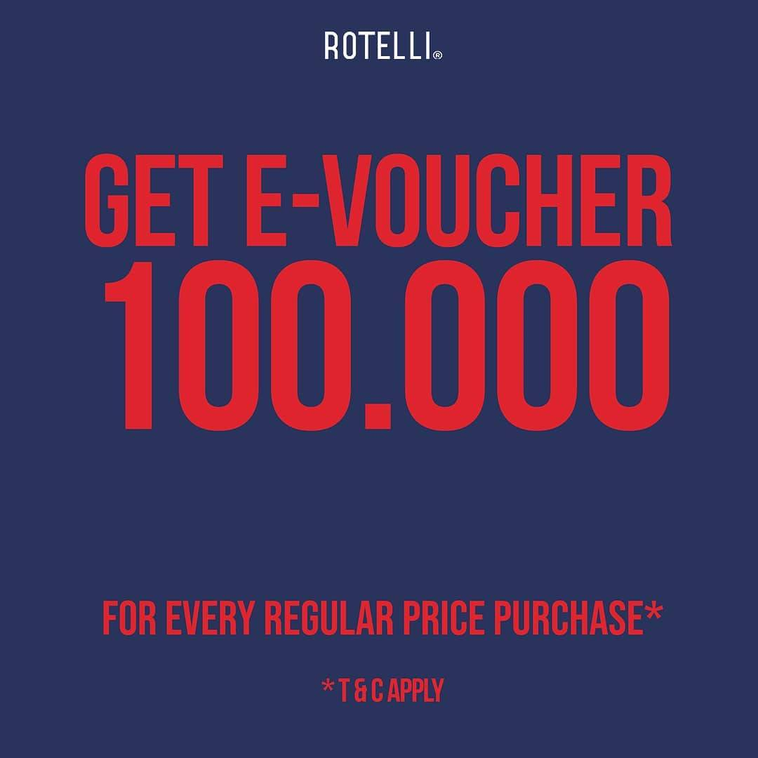 Rotelli Promo E-Voucher IDR. 100.000 On Regular Priced Items