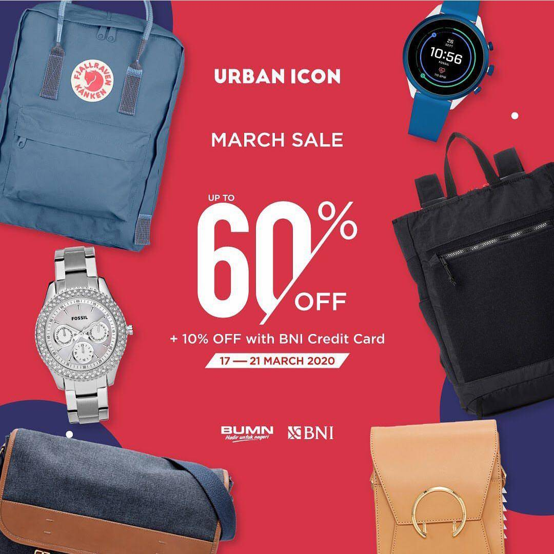 Urban Icon Diskon Hingga 60%+10% Bayar Pakai Kartu Kredit BNI Untuk Jam Tangan Pilihan