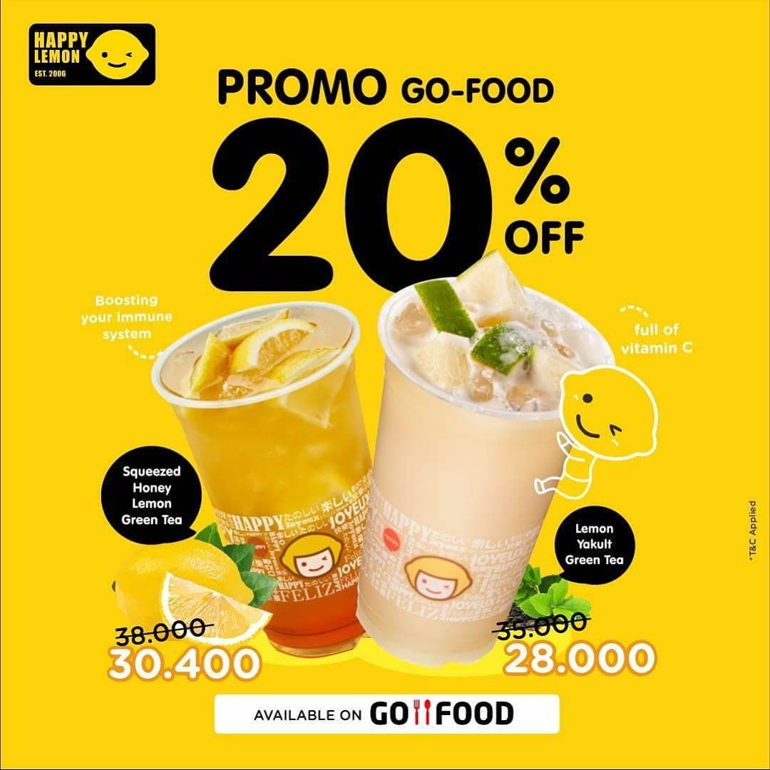 Diskon Happy Lemon Promo Diskon 20% Dari Gofood Untuk Minuman Pilihan