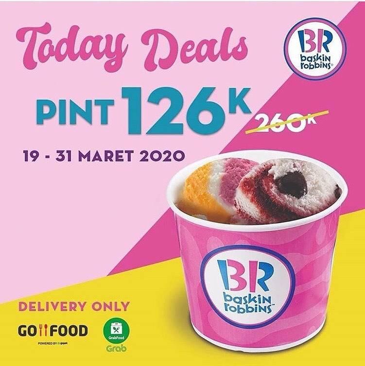 Baskin Robbins Promo Harga Spesial Untuk Produk Pint Hanya Rp. 126.000