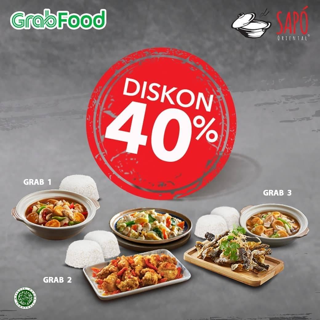 Sapo Oriental Promo Paket Grab Diskon 40%