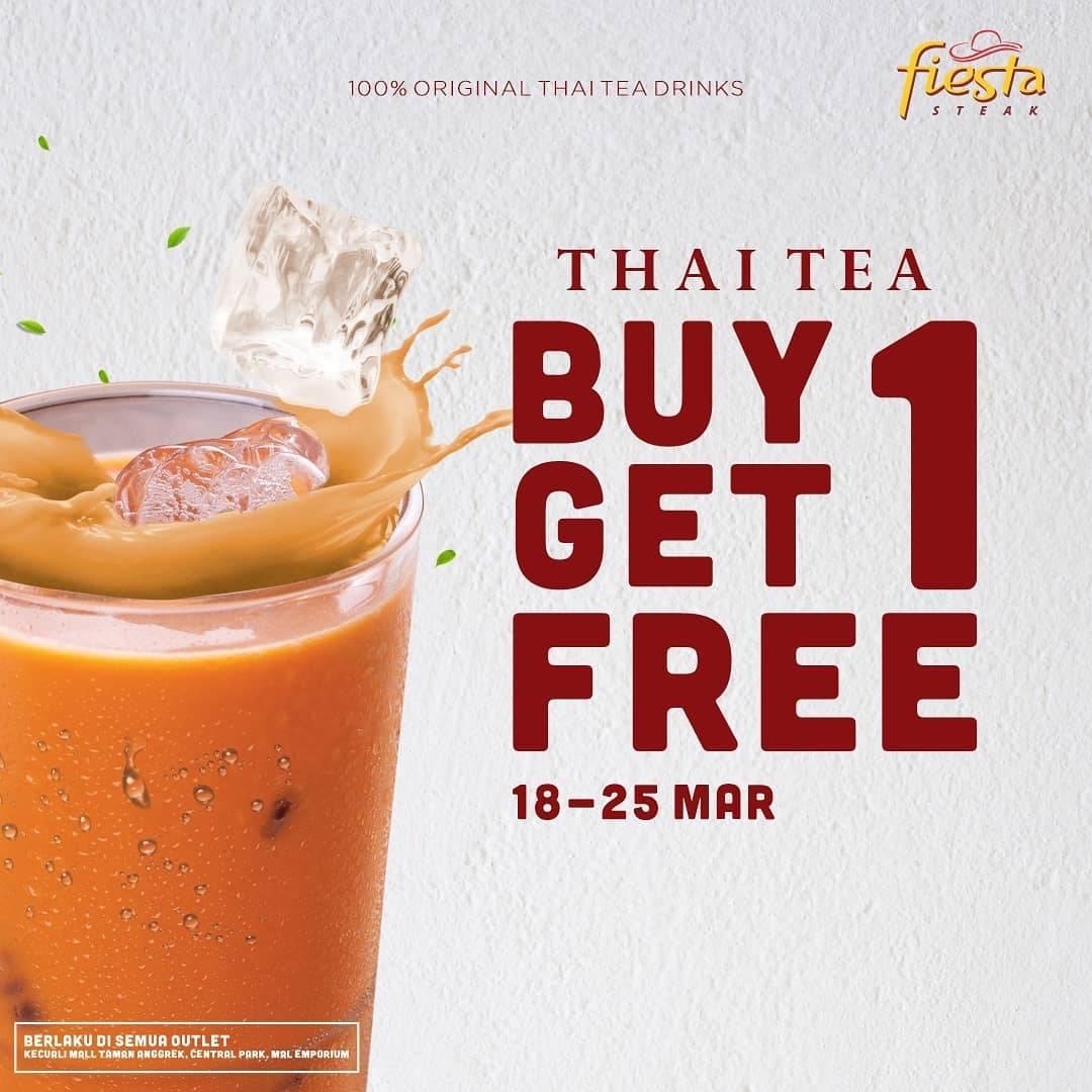 Fiesta Steak Promo Buy 1 Get 1 Free Thai Tea