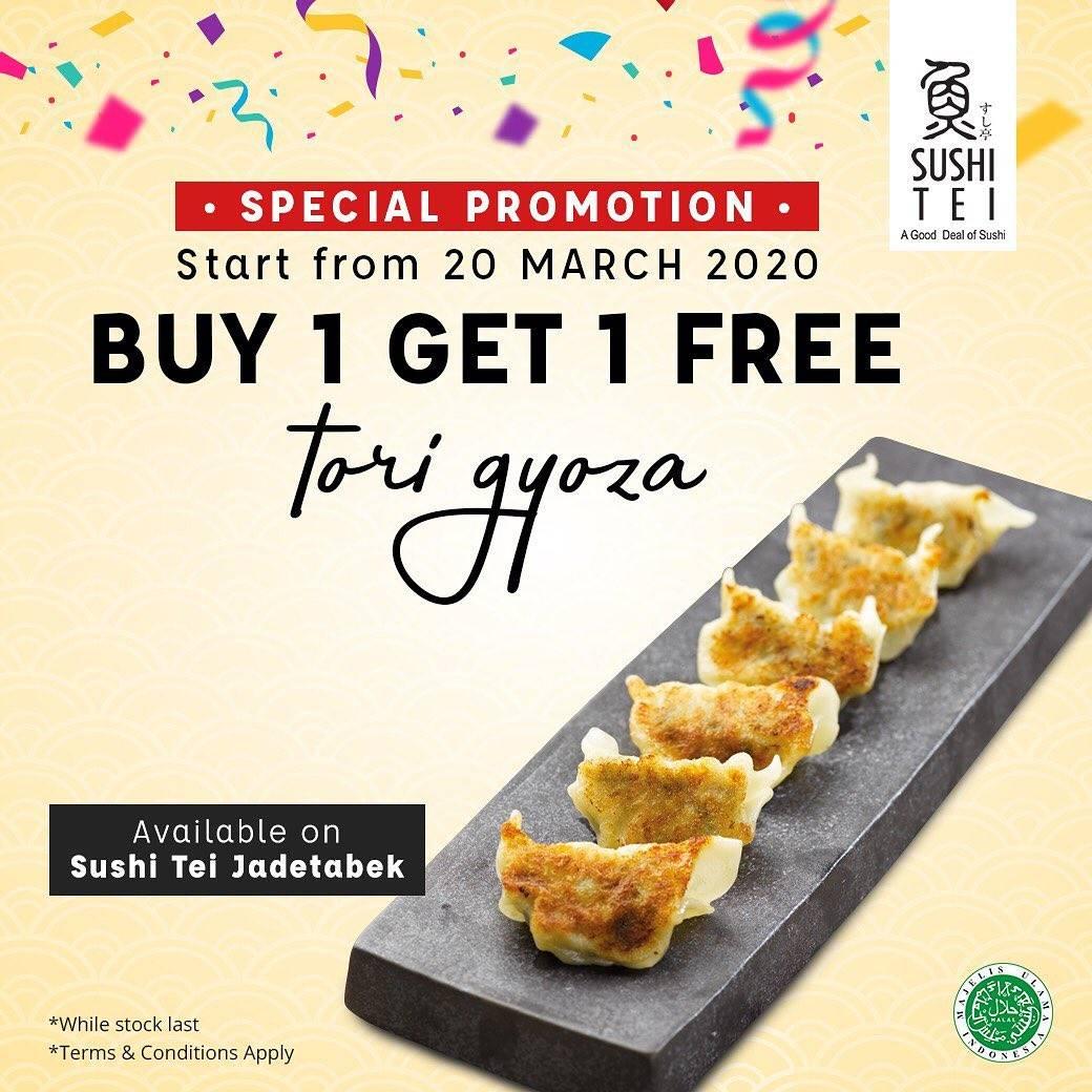 Diskon Sushi Tei Promo Jadetabek Buy 1 Get 1 Free Tori Gyoza