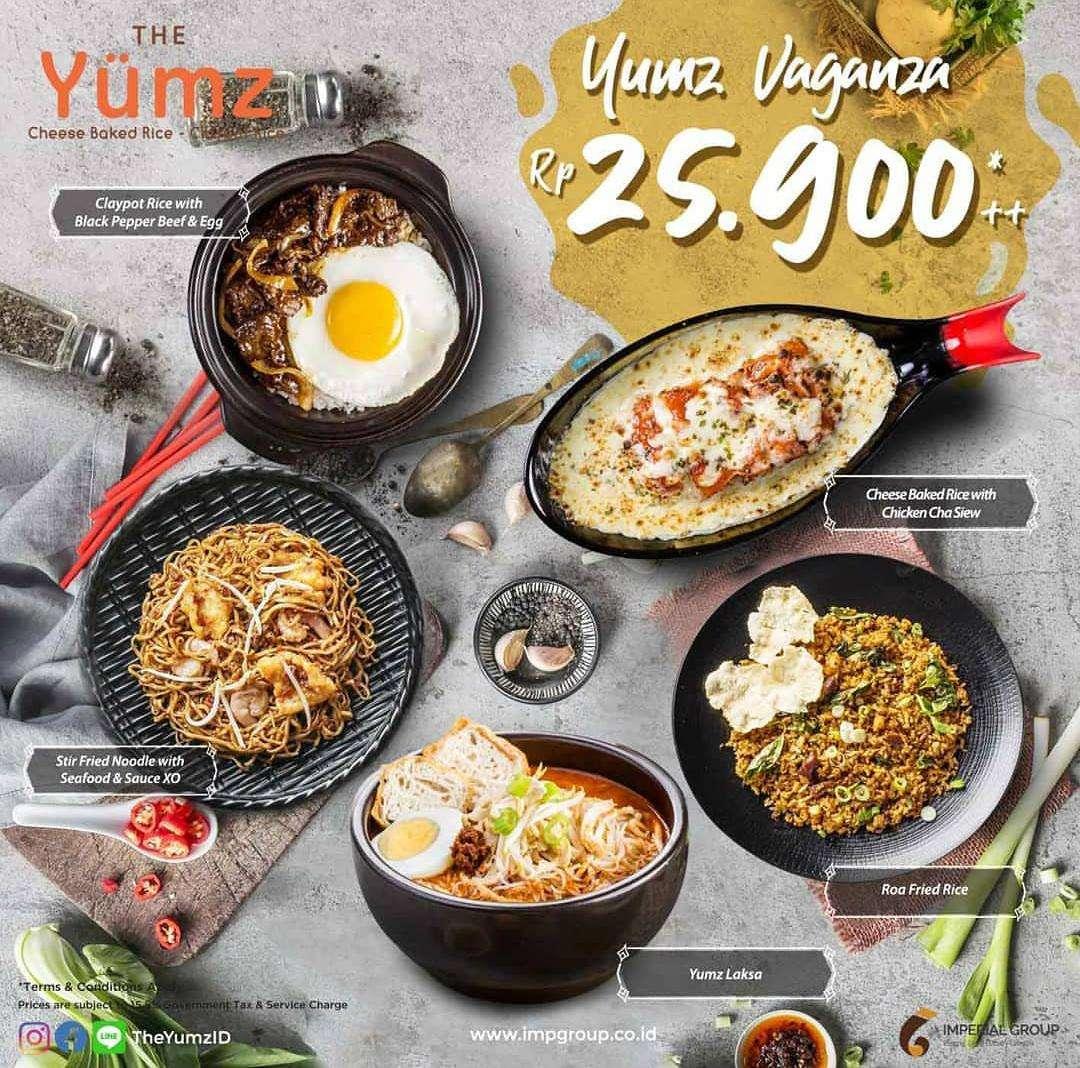 The Yumz Promo Yumz Vaganza, Harga Spesial Menu Pilihan Hanya Rp. 25.900++