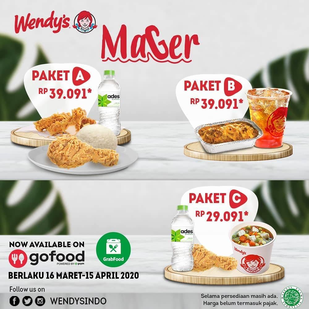 Wendy's Promo Mager Pemesanan Via Aplikasi Gofood/Grabfood