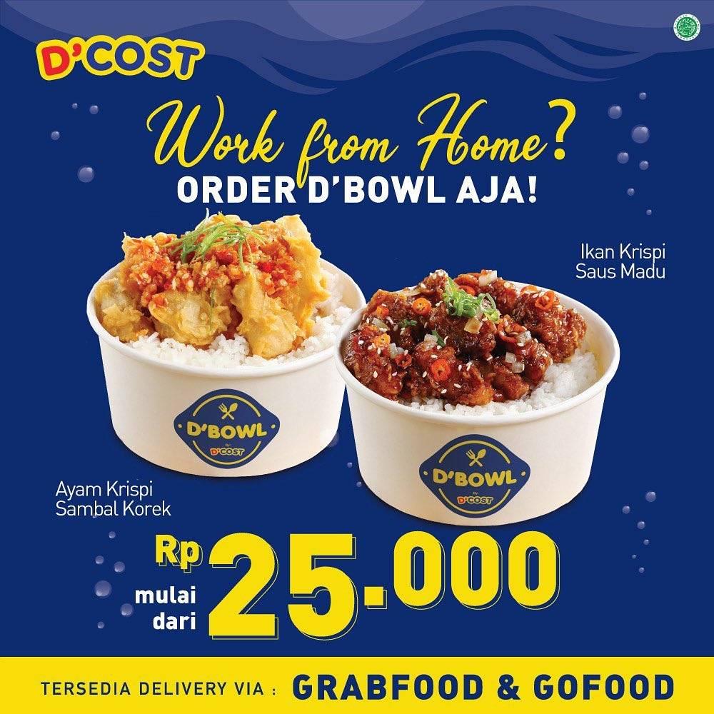 D'Cost Promo Menu Pilihan Harga Mulai Dari Rp. 25.000 Pemesanan Via GrabFood/GoFood