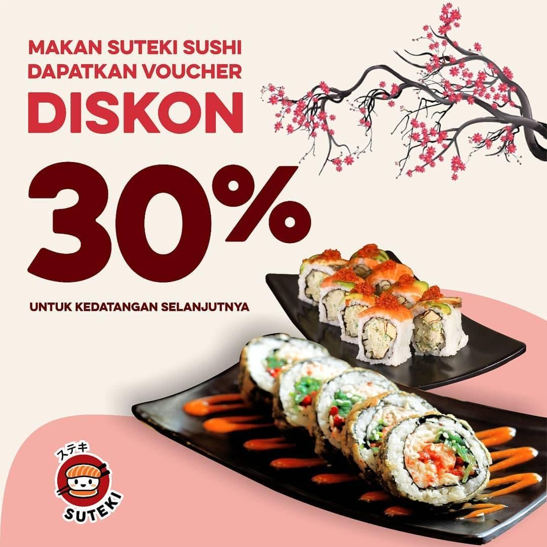 Suteki Sushi Promo Voucher Diskon 30% Untuk Kedatangan Selanjutnya