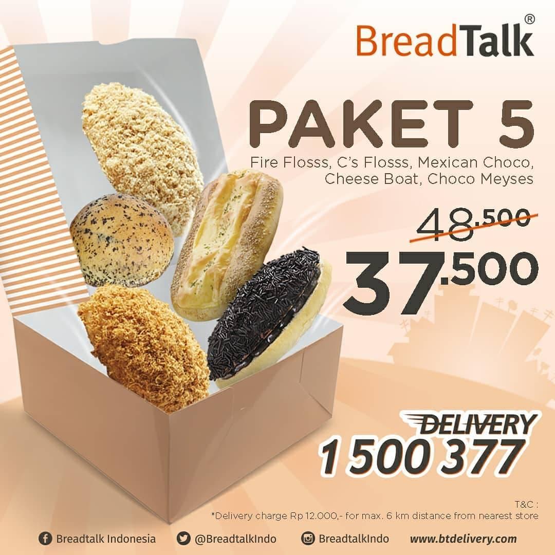 Diskon Breadtalk Promo Beli Paket Roti Via Delivery Harga Mulai Dari Rp. 37.500