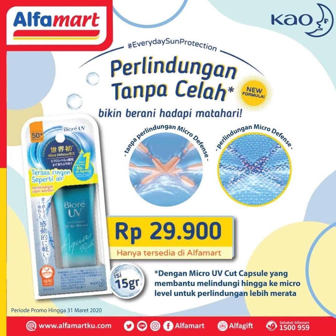 Alfamart Promo Harga Spesial Biore UV Aqua Rich Watery Essence SPF50 15g Cuma Rp. 29.900