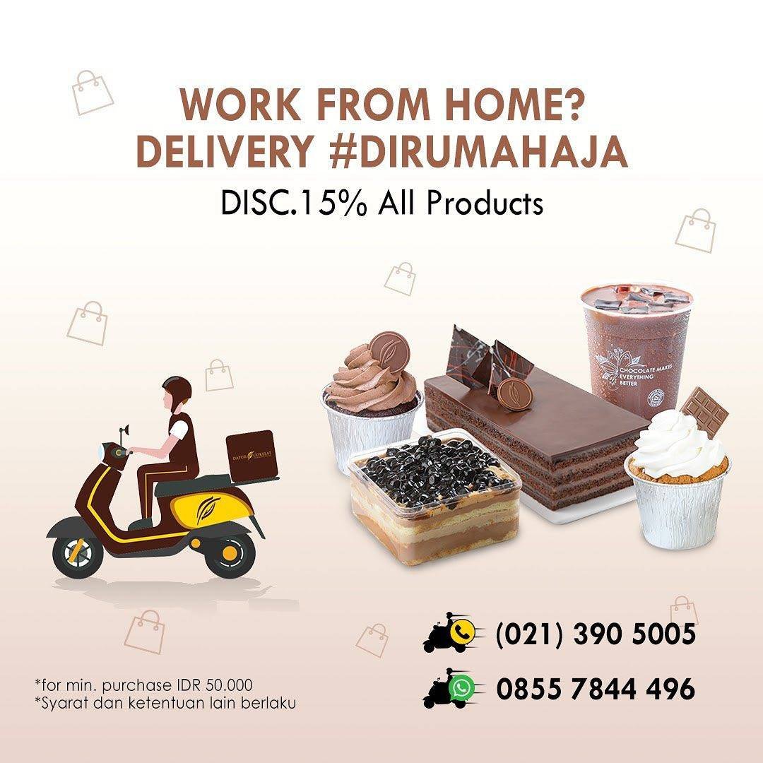 Dapur Cokelat Promo Work From Home, Diskon 15% Dengan Pemesanan Delivery Chococall