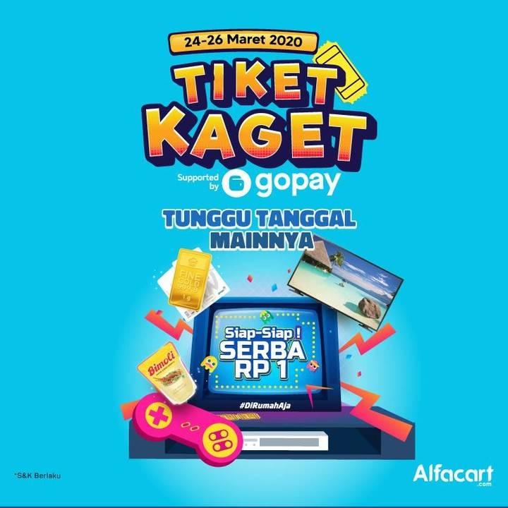 Diskon Alfacart Promo Tiket Kaget Dari Gopay, Harga Serba Rp. 1,-