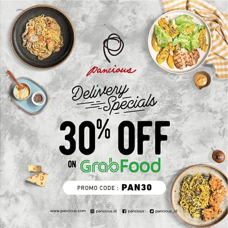 Diskon Pancious Promo Spesial Delivery, Diskon 30% Pemesanan Melalui Grabfood