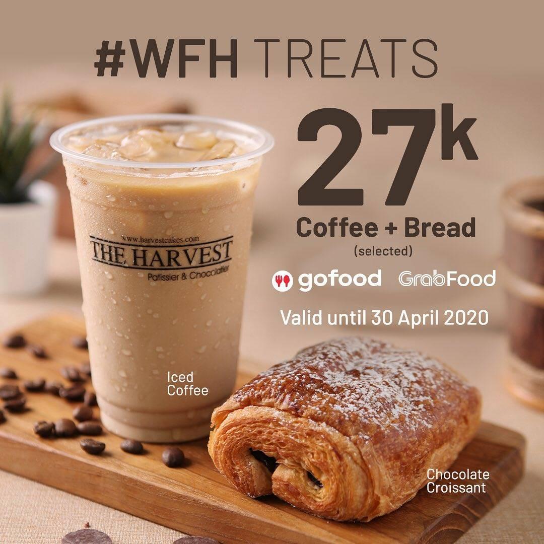 The Harvest Promo Work From Home, Harga Spesial Roti + Kopi Hanya Rp. 27.000