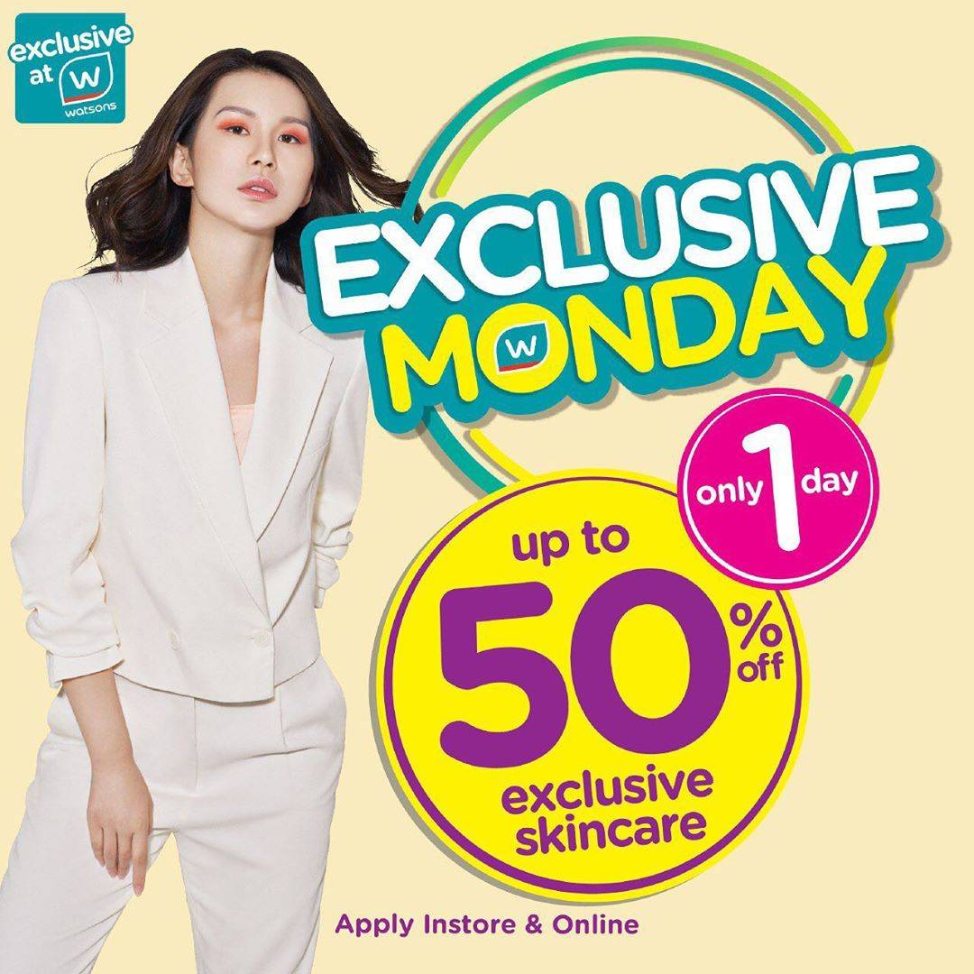 Watsons Promo Exclusive Monday, Discount Up To 50% For Selected Items