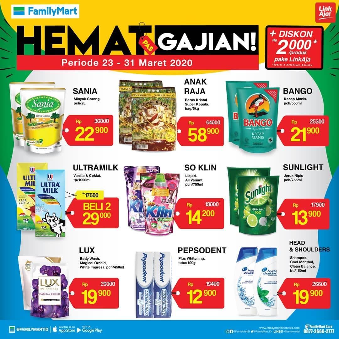 Family Mart Promo Hemat Pas Gajian , Katalog Periode 23-31 Maret 2020