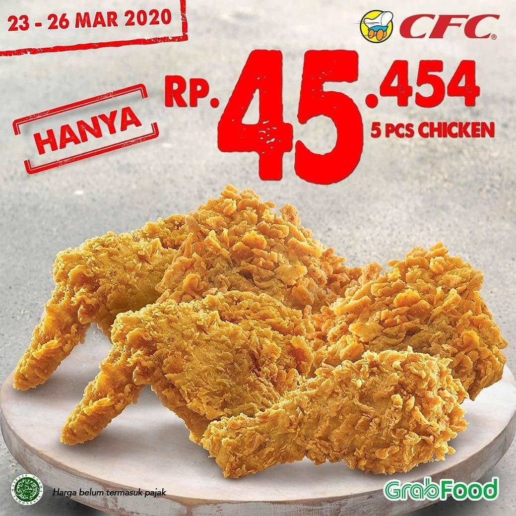 CFC Promo 5 Pcs Ayam Hanya Rp. 45.545 Pemesanan Via Grabfood