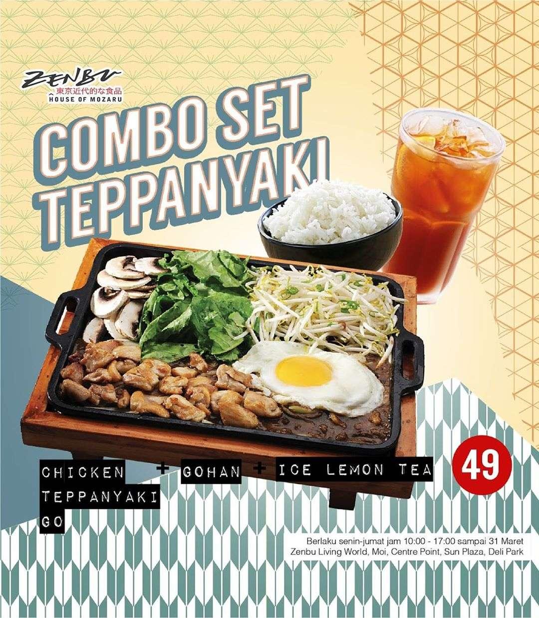 Zenbu Promo Combo Set Teppanyaki For Only IDR 49.000