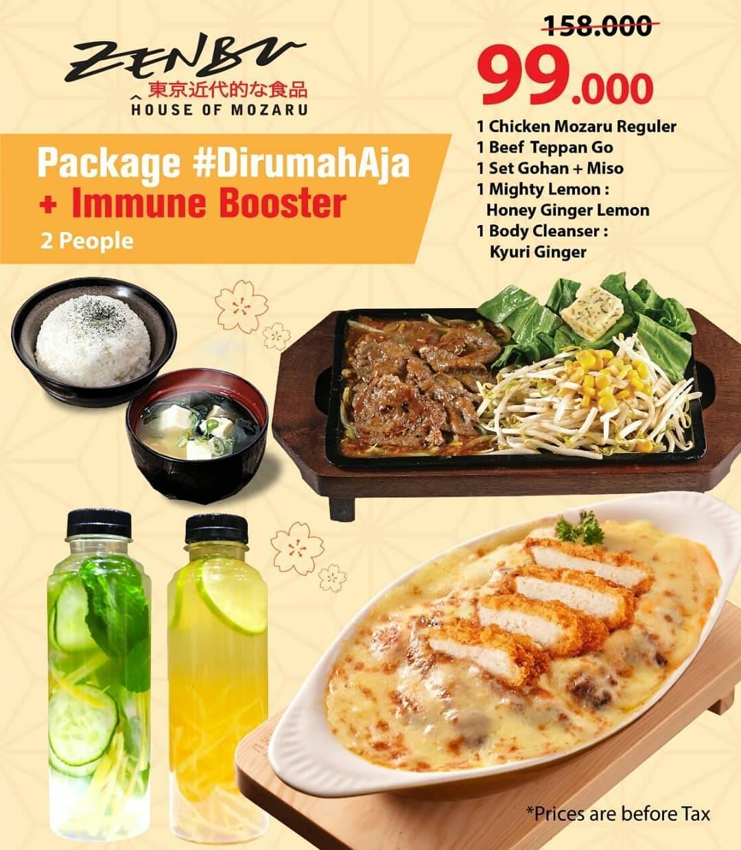 Diskon Zenbu Promo Delivery Harga Spesial Mulai Dari Rp. 99.000