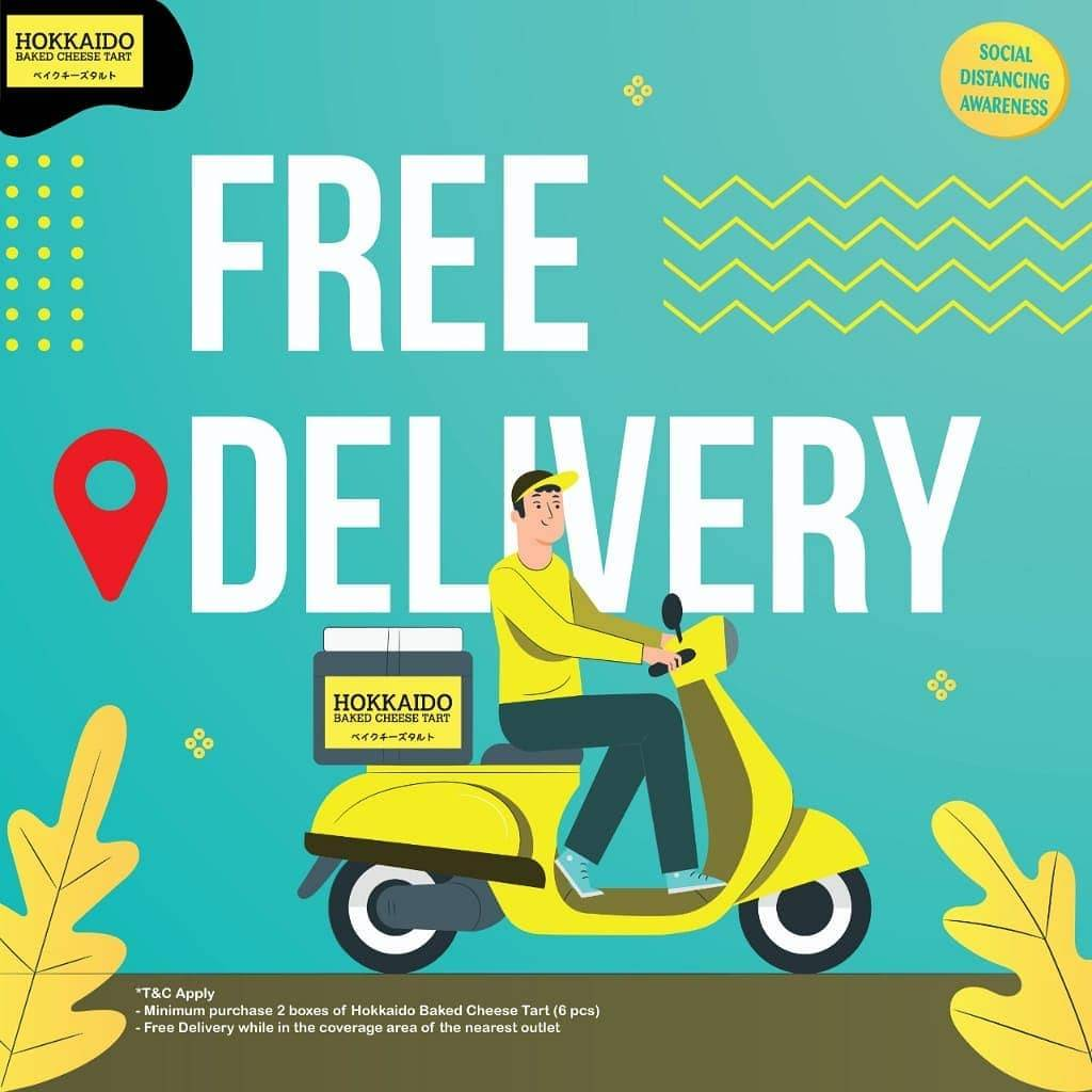 Hokkaido Promo Free Delivery For Online Orders