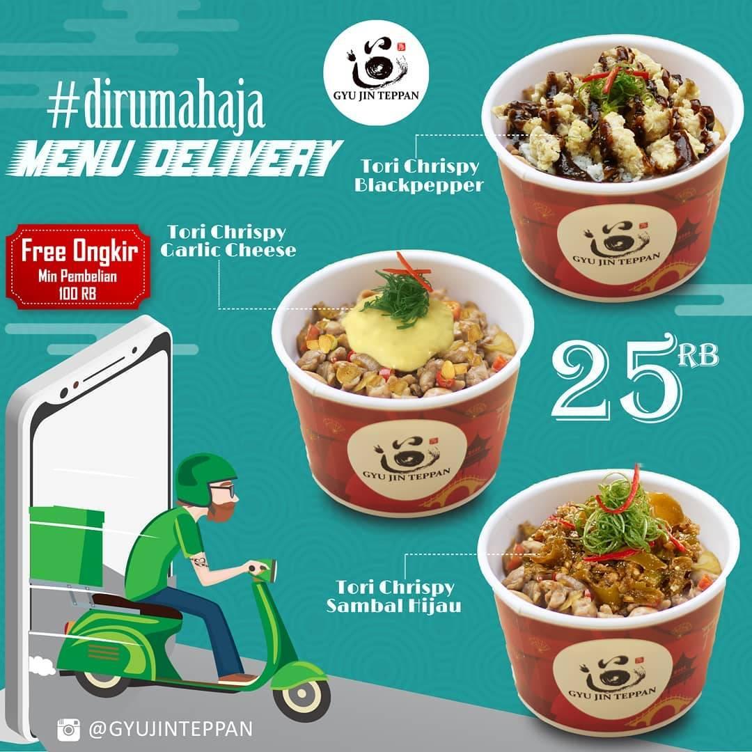 Gyu Jin Teppan Promo Menu Delivery Hanya Rp. 25.000 + Free Ongkir