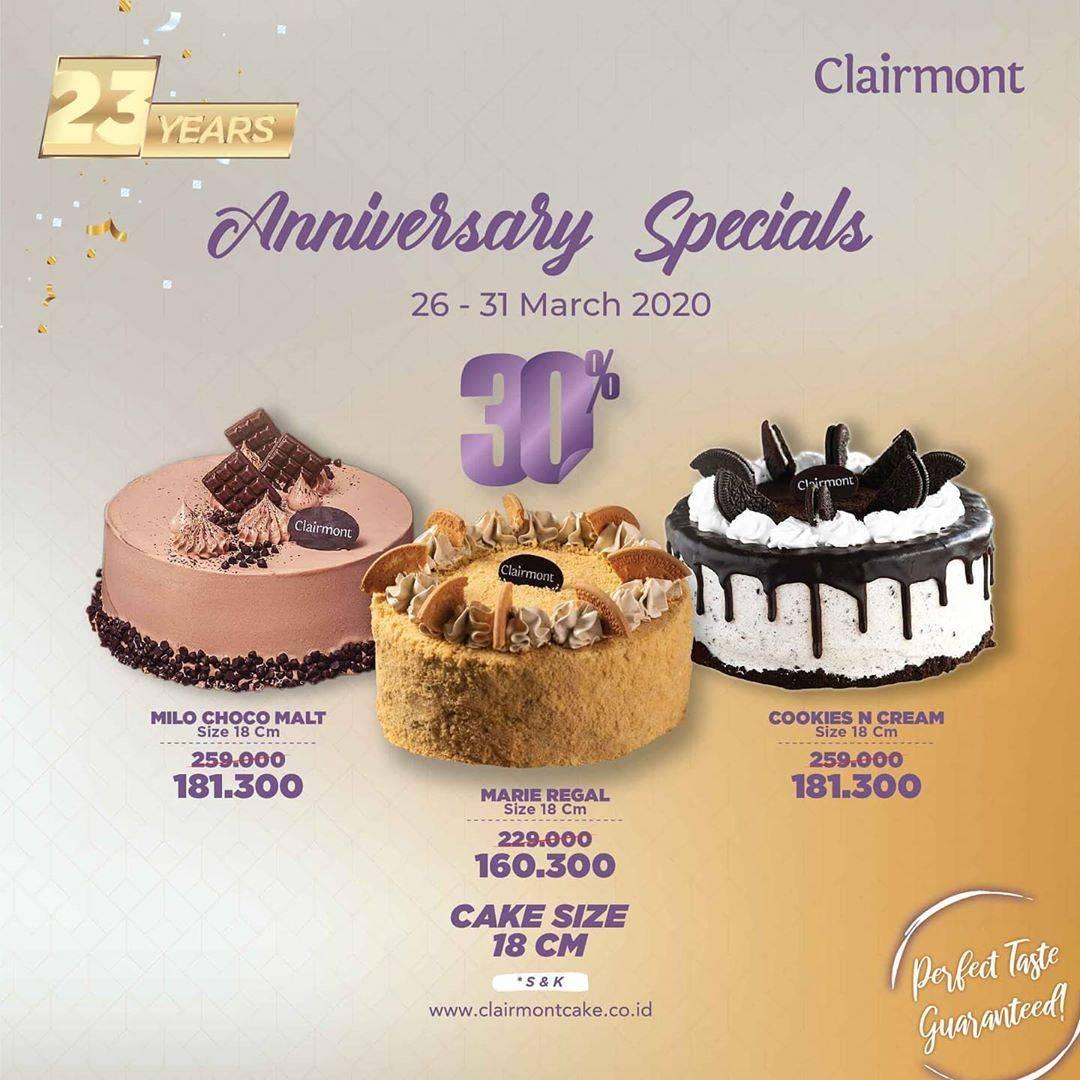 Clairmont Patisserie Promo Diskon Hingga 50% Untuk Best Seller Cakes