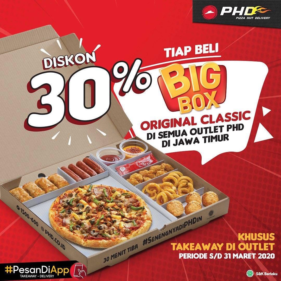 PHD Jawa Timur Promo Diskon 30% Tiap Beli Big Box Original Classic