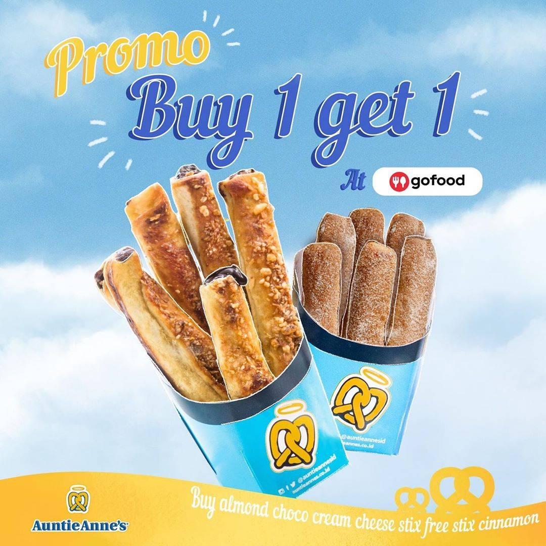 Auntie Anne's Promo Buy 1 Get 1 Free Untuk Menu Pilihan Pembelian Melalui Gofood