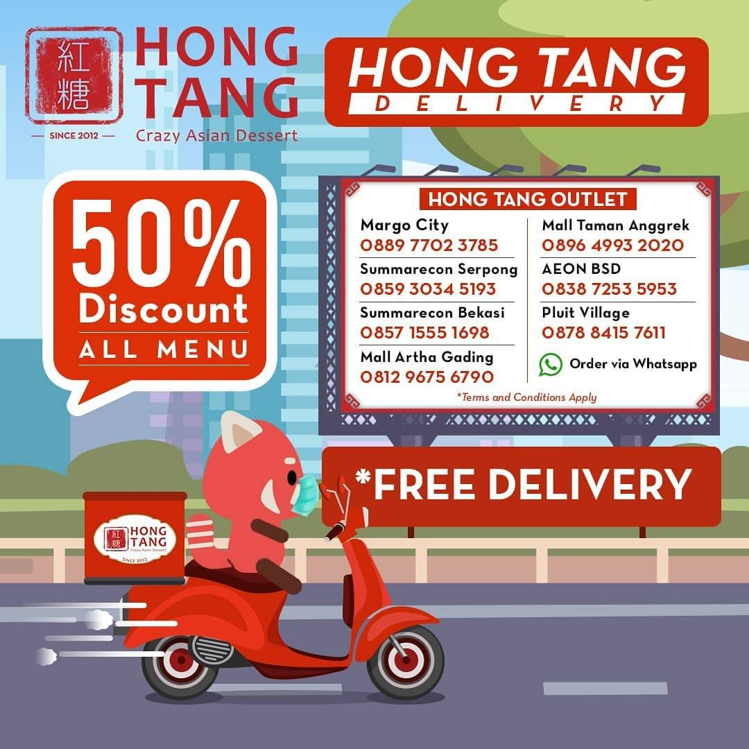 Hong Tang Promo Diskon 50% All Menu + Free Delivery