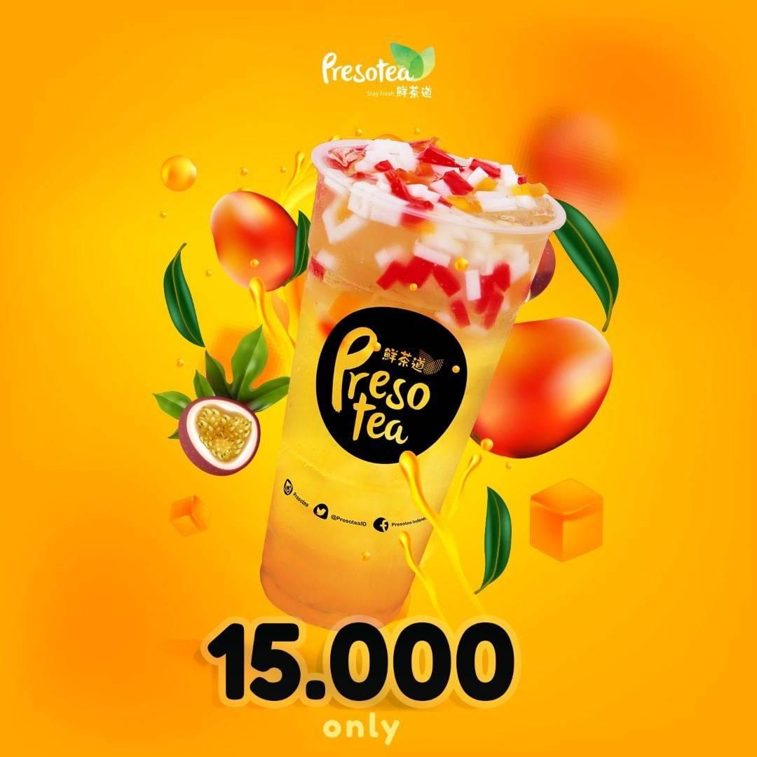 Diskon Preso Tea Promo Harga Spesial Minuman Pilihan Cuma Rp. 15.000
