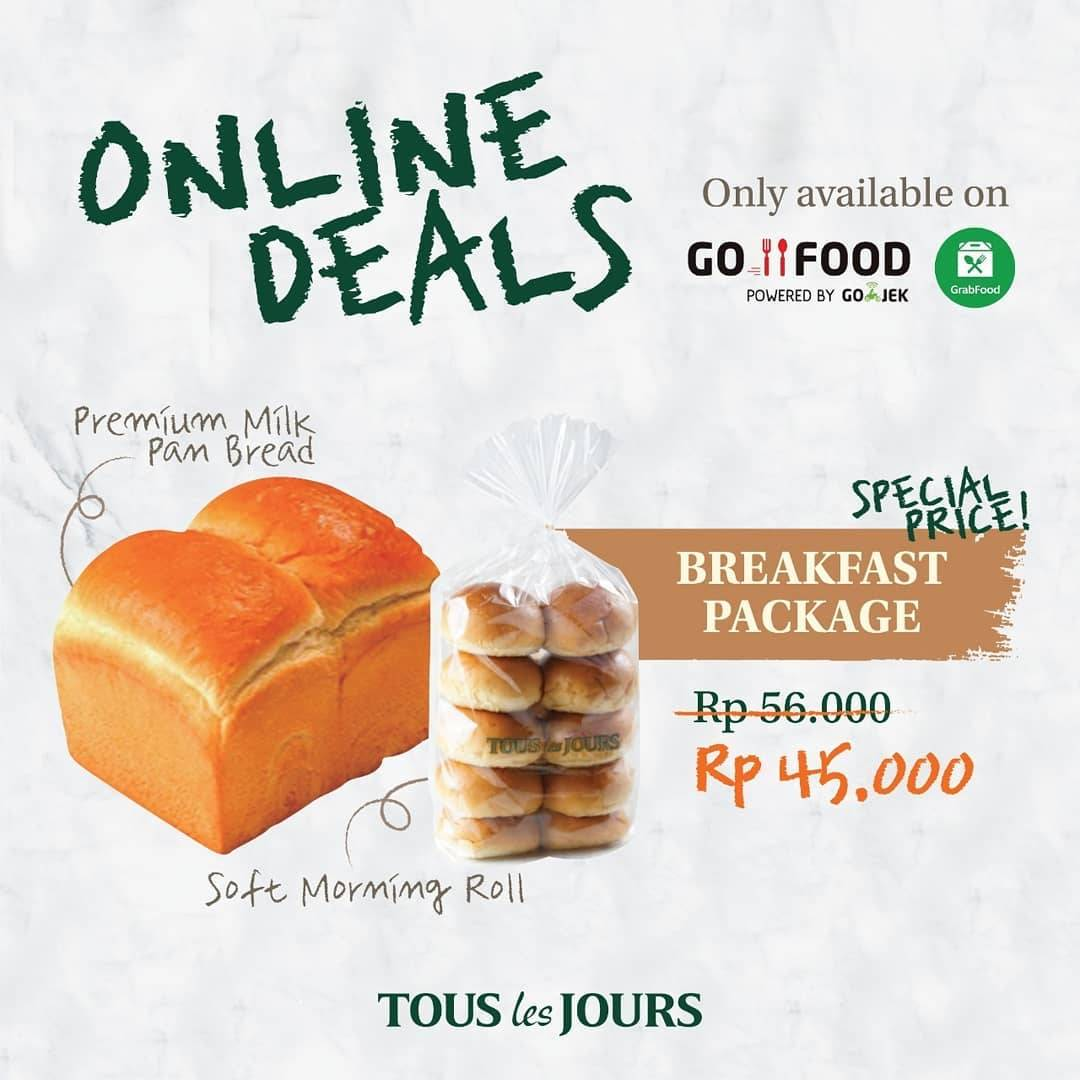 Tous les Jours Promo Discount Up To 25% Off Thru GoFood & GrabFood