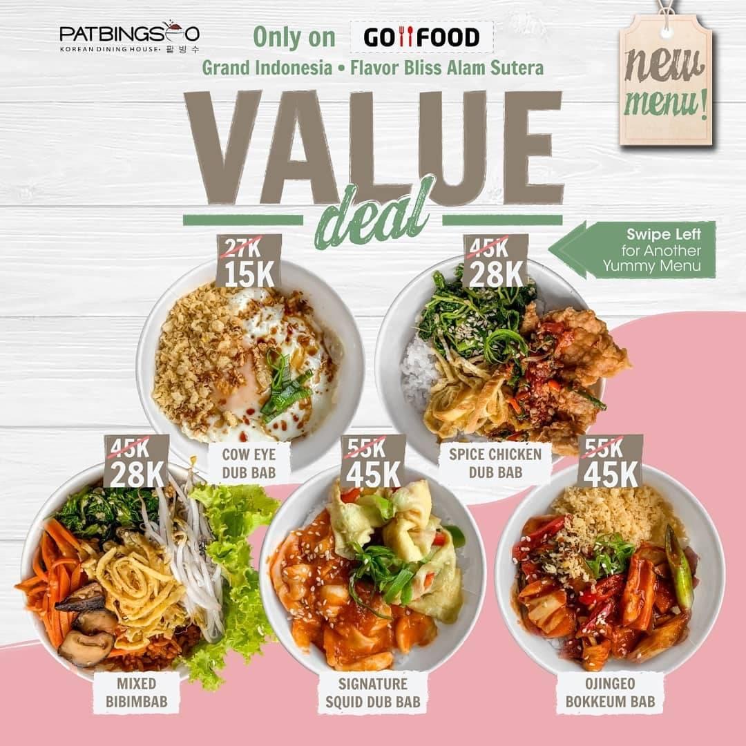 Pat Bing Soo Promo Harga Spesial Menu Pilihan Harga Mulai Dari Rp. 15.000 Pembelian Via GoFood
