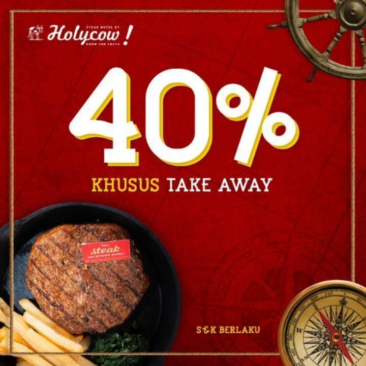 HolyCow Promo Diskon 40% Untuk Menu Pilihan Khusus Pemesanan Take Away