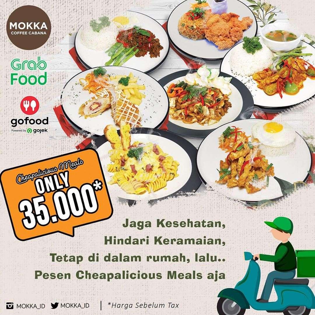 Diskon Mokka  Promo Cheapalicious Meals Hanya Rp. 34.000 Pemesanan Via GoFood & GrabFood