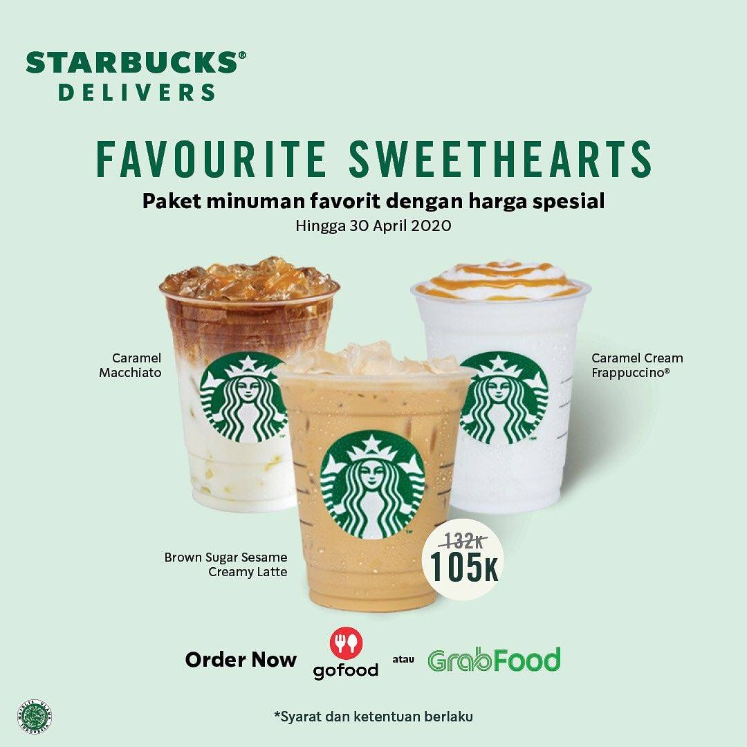 Starbucks Delivers Promo Favourite Sweethearts Minuman Spesial Dengan Harga Rp. 105.000