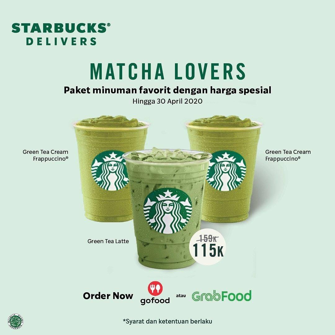 Diskon Starbucks Delivers Promo Matcha Lovers, Paket Minuman Pilihan Cuma Rp. Rp. 115.000
