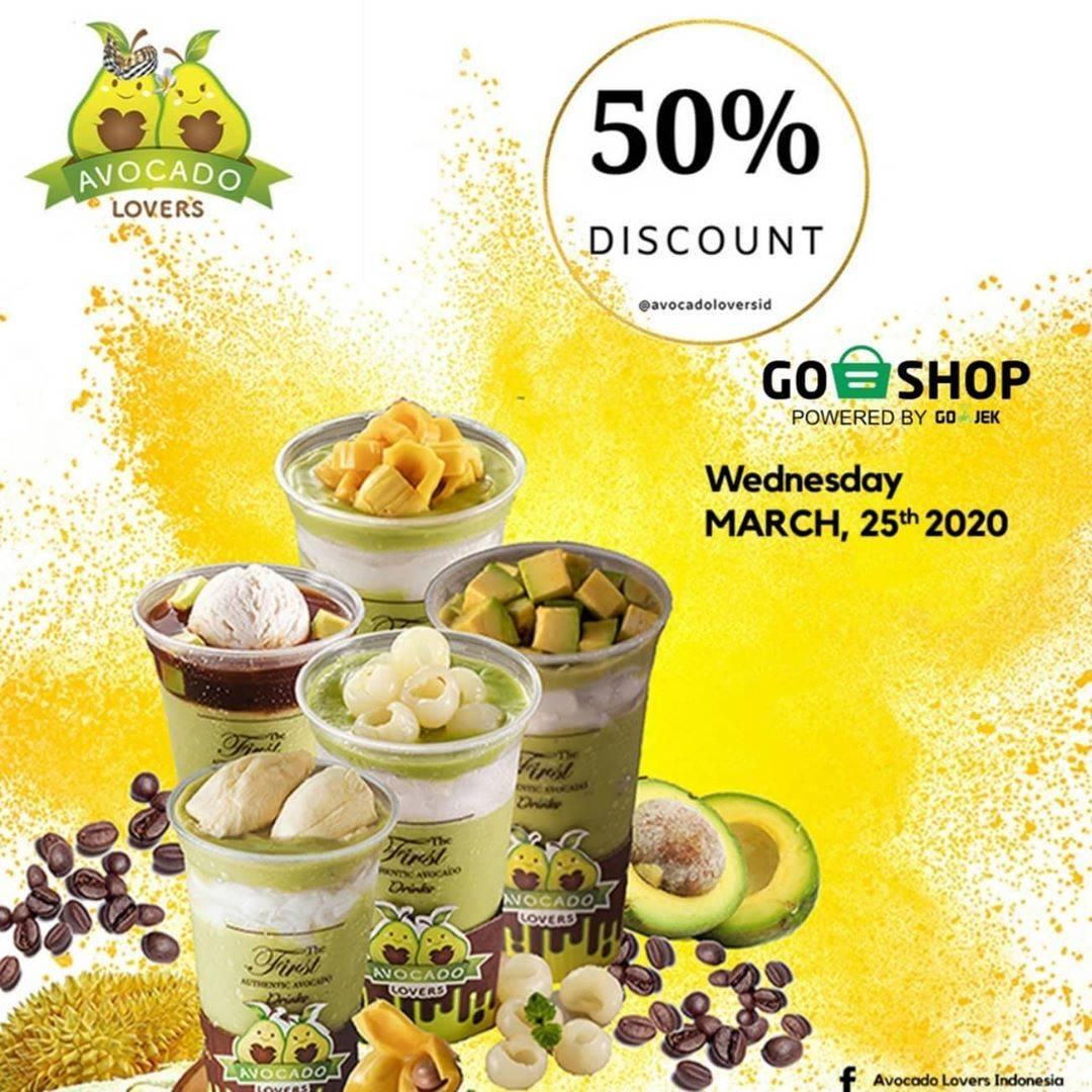 Avocado Lovers Promo Diskon 50% Untuk Minuman Pembelian Via GoShop