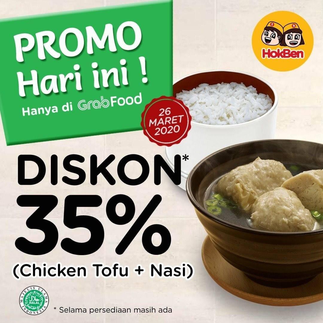 HokBen Promo Diskon 35% Untuk Menu Pilihan Dengan Pemesanan Via GrabFood