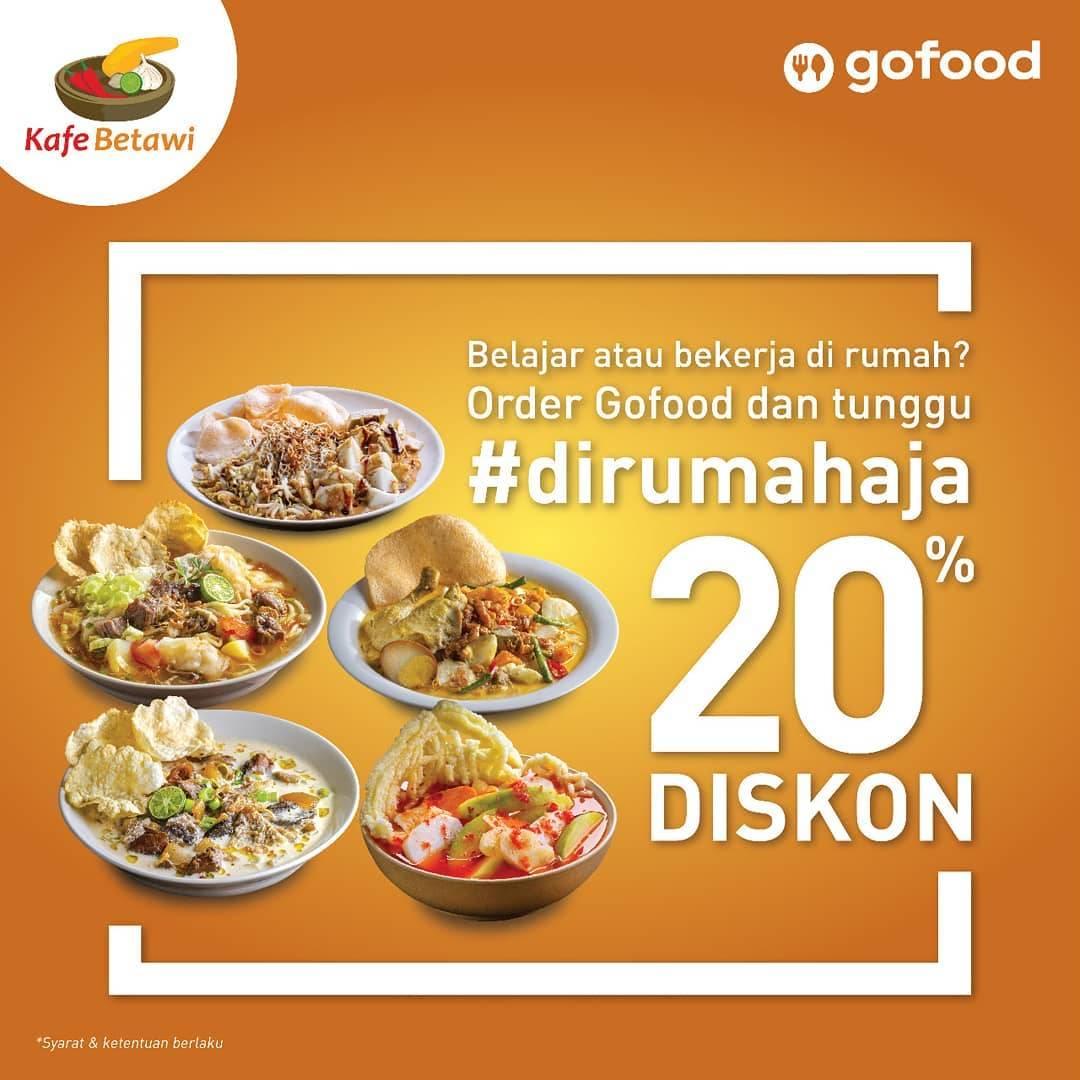 Kafe Betawi Promo Diskon 20% Untuk Menu Pilihan Di Aplikasi GoFood