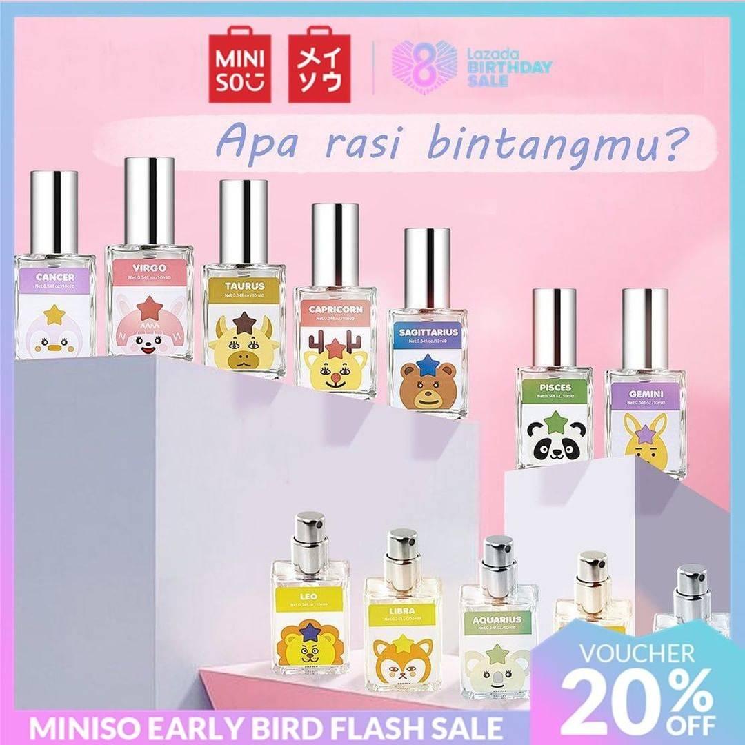 Miniso Promo Diskon 20% Untuk Zodiac Parfumes Hanya Di Lazada