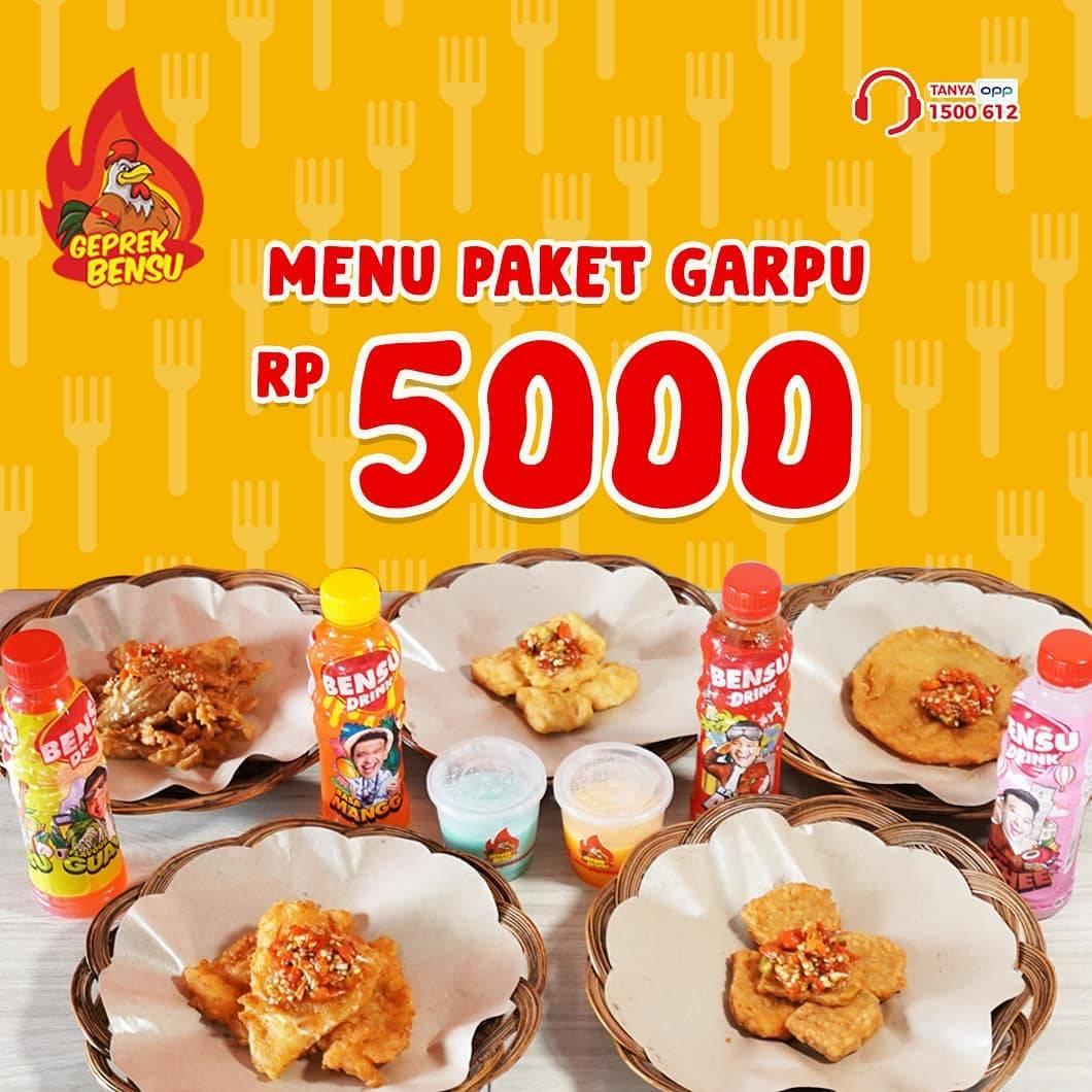 Geprek Bensu Promo Harga Spesial Paket Garpu Cuma Rp. 5.000