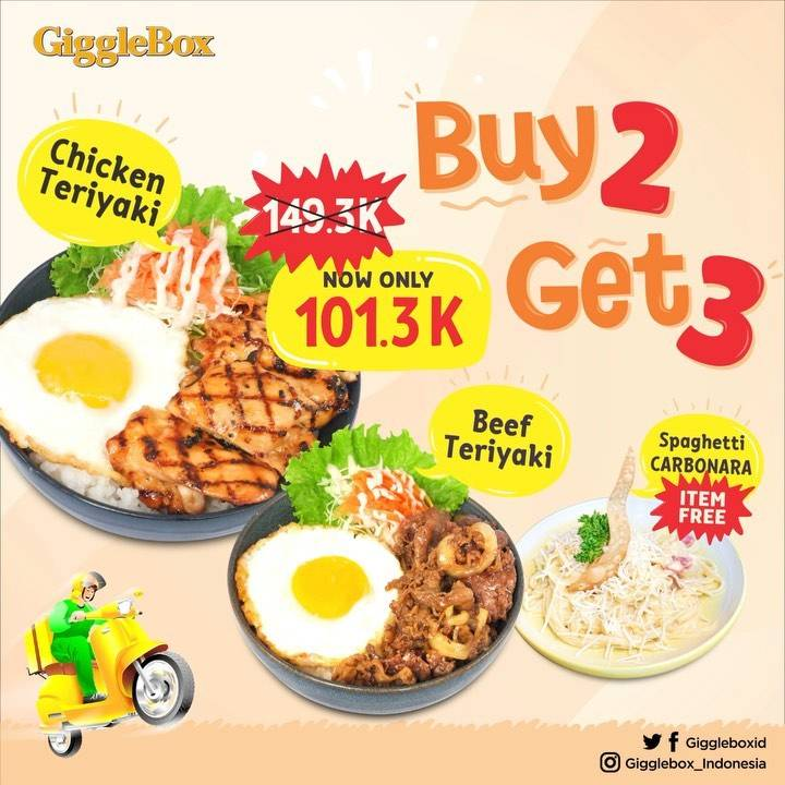 Diskon Giggle Box Promo Buy 2 Get 3 Berlaku Untuk Delivery Online