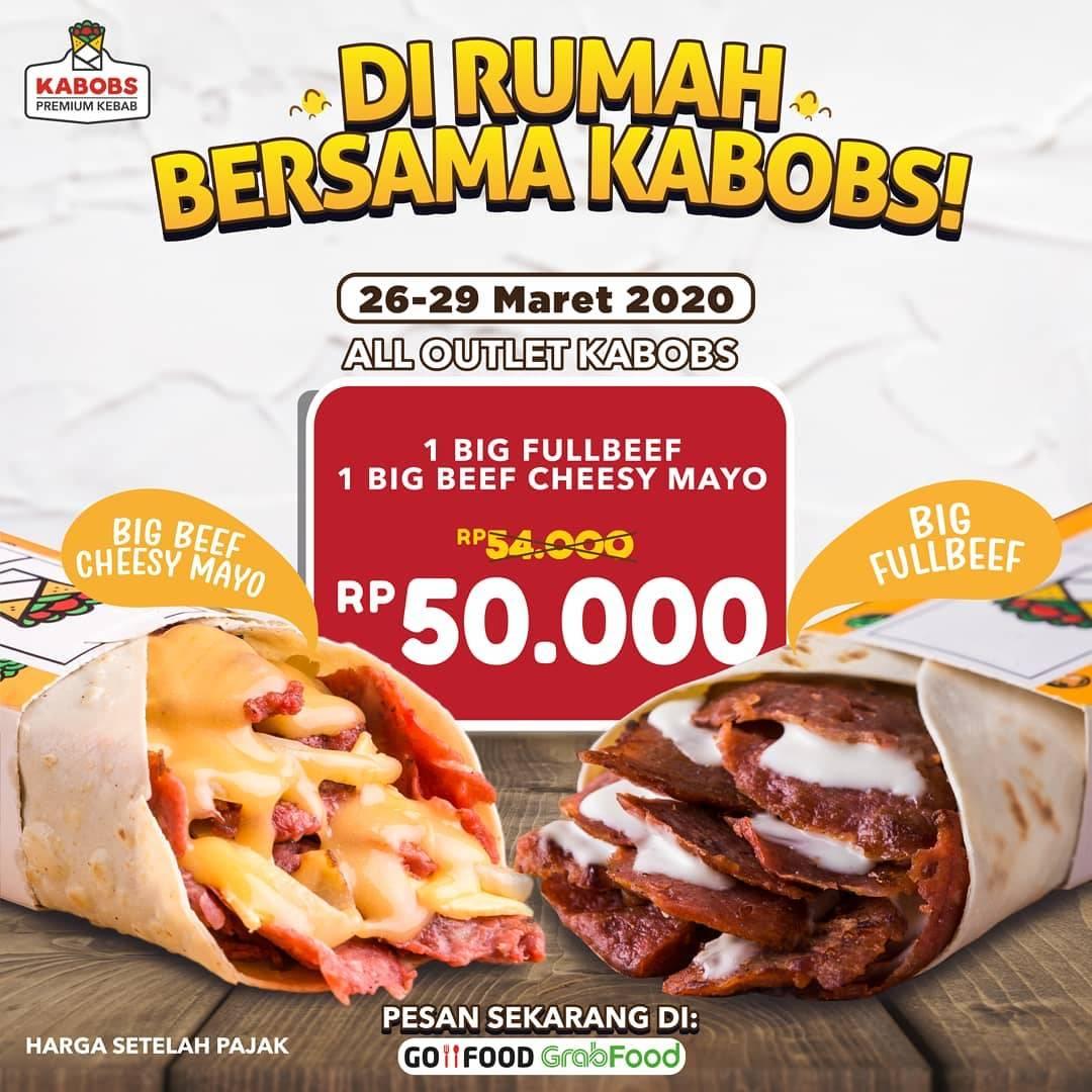 Diskon Kabobs Promo Menu Spesial Hanya Rp. 50.000 Pemesanan Via GoFood & GrabFood
