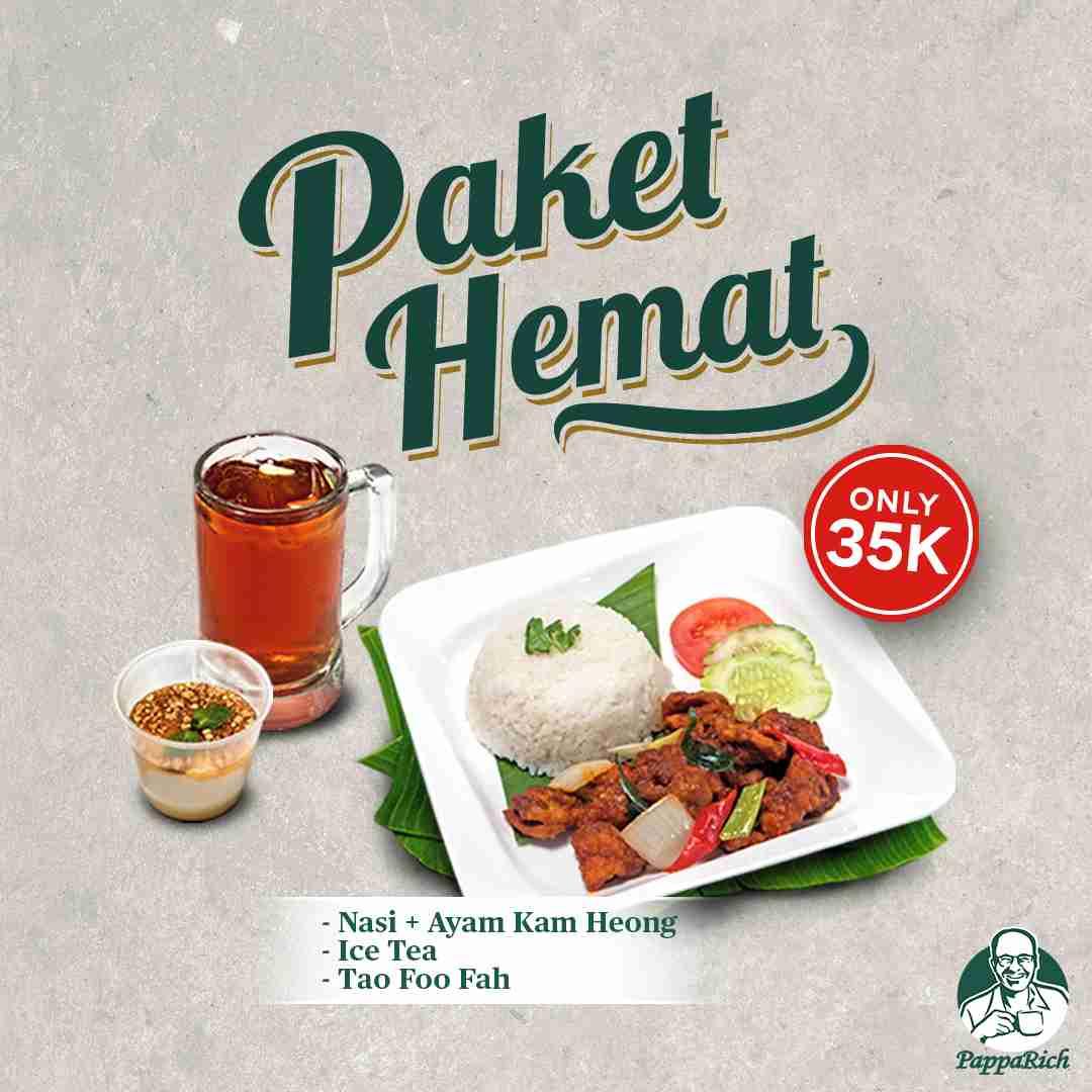 Diskon PappaRich Promo Paket Hemat Hanya Rp. 35.000