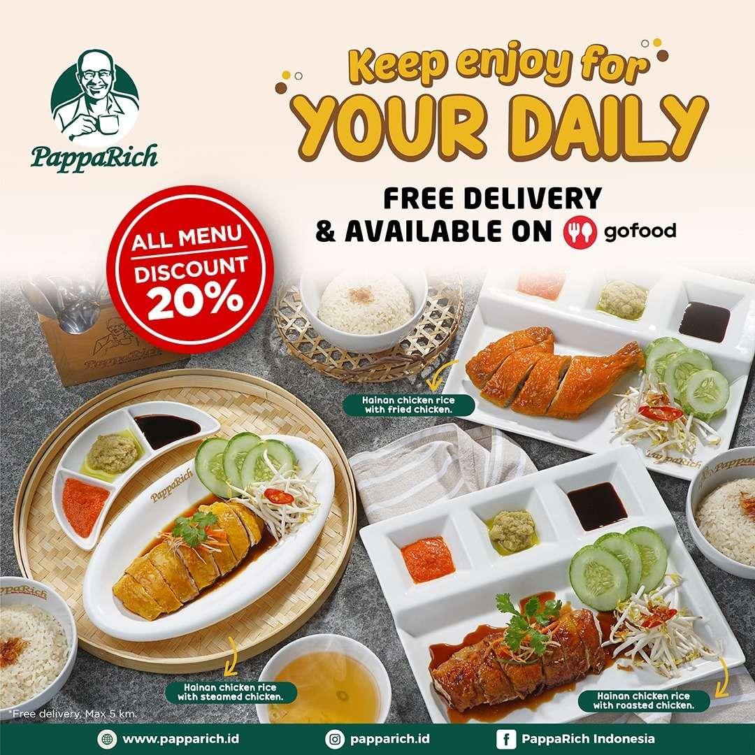 PappaRich Promo Diskon 20% + Free Delivery Untuk Pemesanan Melalui GoFood