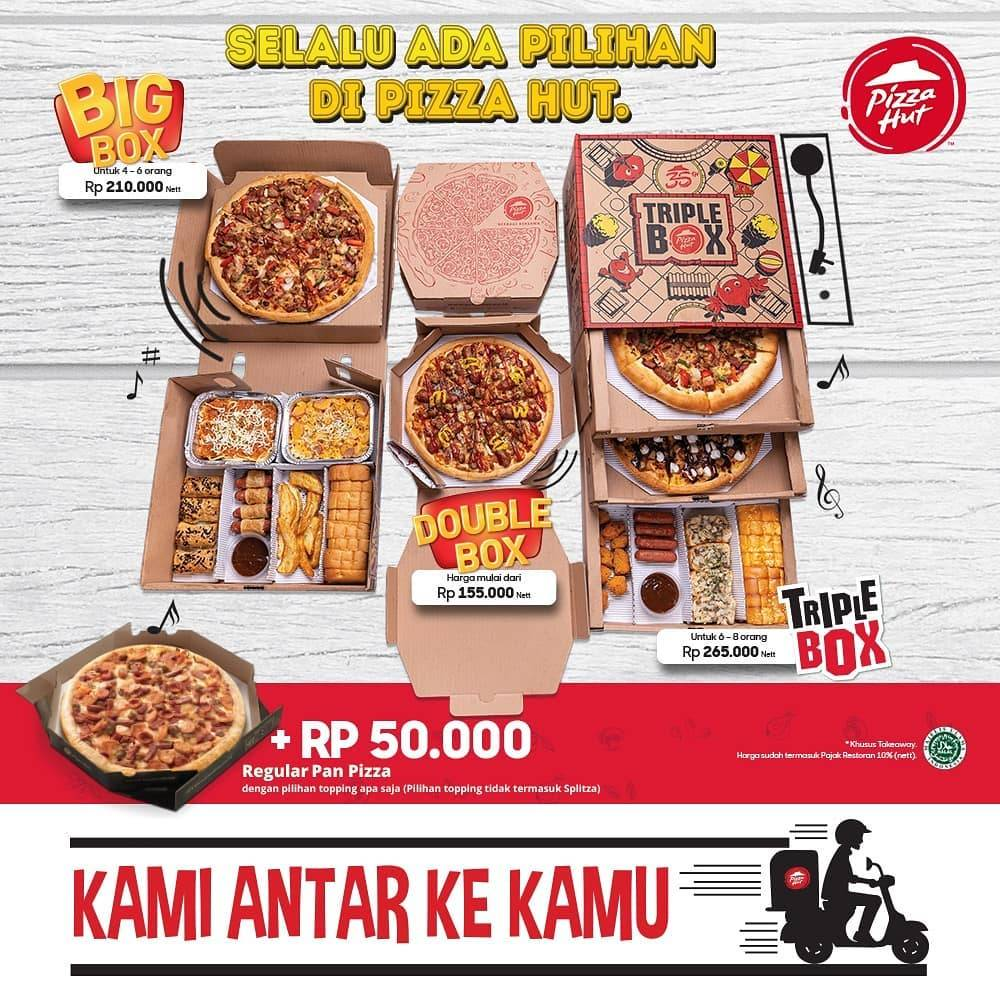 Pizza Hut Promo Tambah Rp. 50.000 Mendapatkan Pizza Reguler Untuk Pemesanan TakeAway