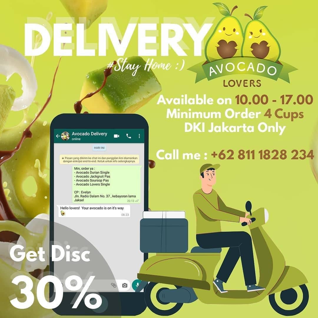 Avocado Lovers DKI Jakarta Promo Diskon 30% Setiap Pemesanan Delivery