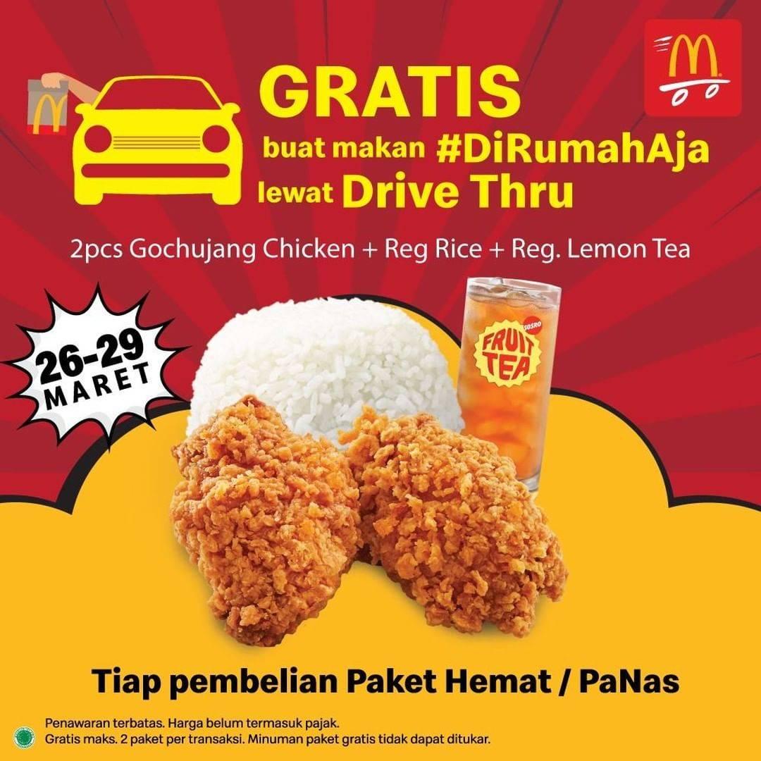 McDonalds Promo Gratis Paket Gochujang + Nasi Setiap Pembelian Paket Hemat/PaNas