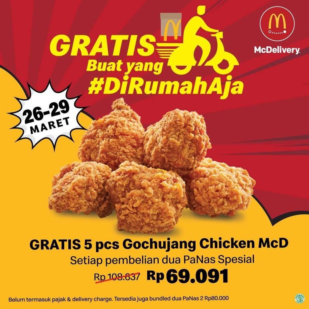 McDonalds Promo Gratis 5 Pcs Gochujang Setiap Pembelian Paket Pilihan Via McDelivery