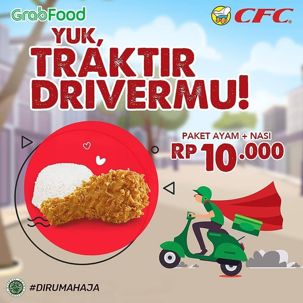 CFC Promo Paket Traktir Driver Ojol Hanya Rp.10.000 Di Aplikasi GrabFood