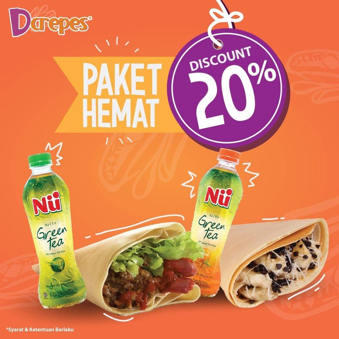 Dcrepes Promo Diskon 20% Untuk 2 Paket Hemat Dcrepes